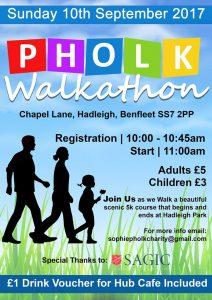 Pholk Walkathon Charity Walk Poster