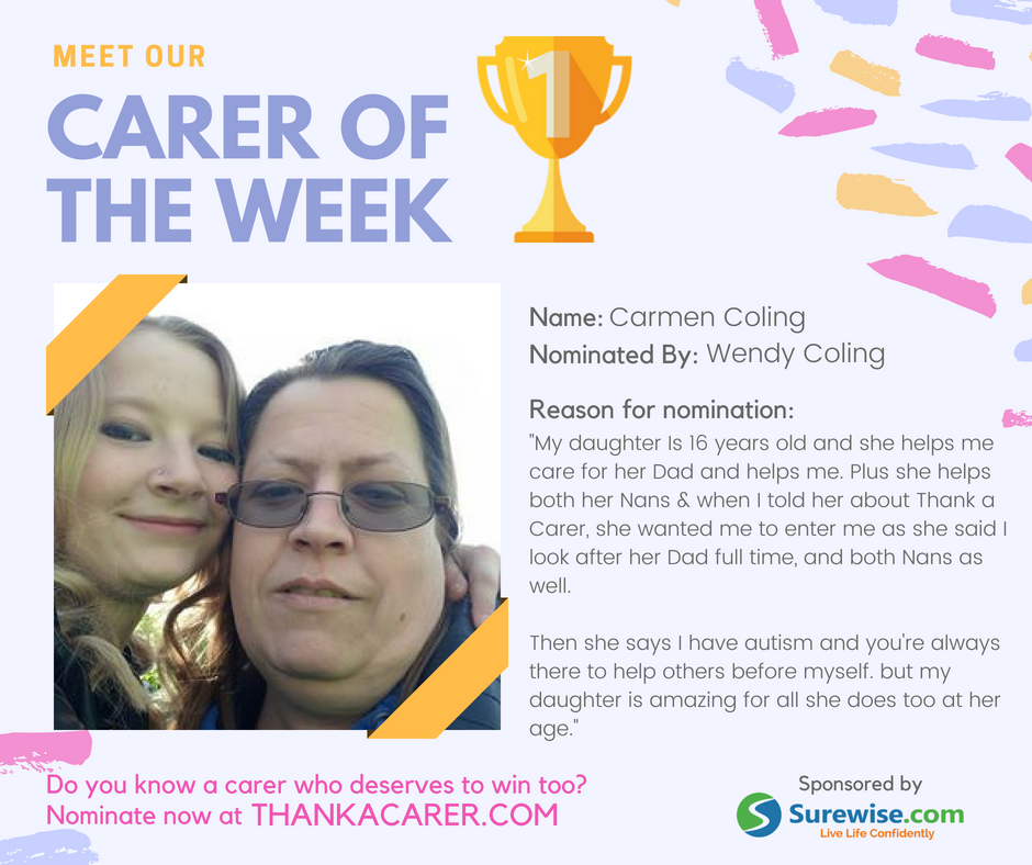 Carer of the Week 20/07