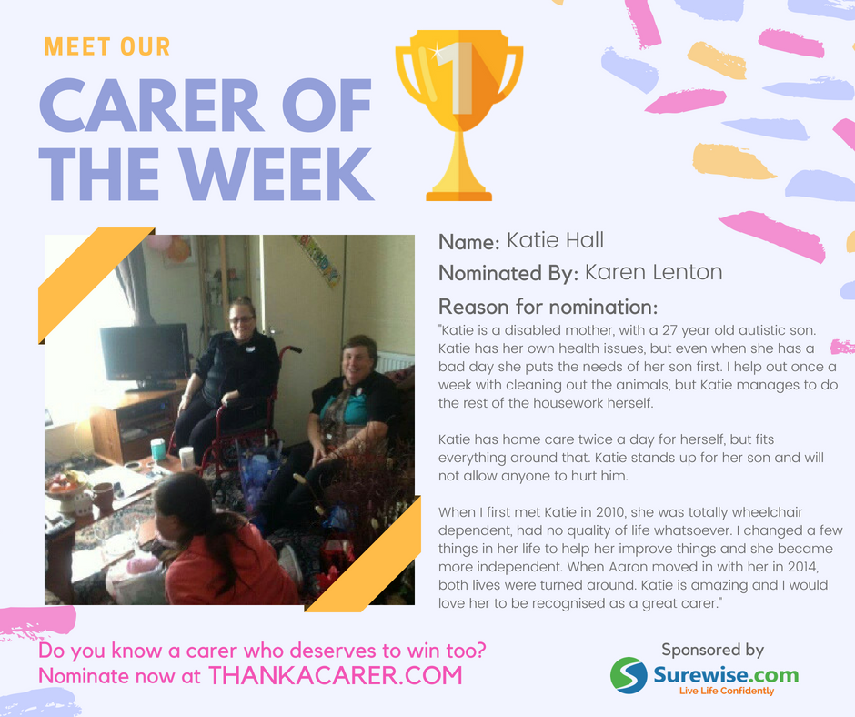Carers of the Week: Karen Lenton and Katie Hall
